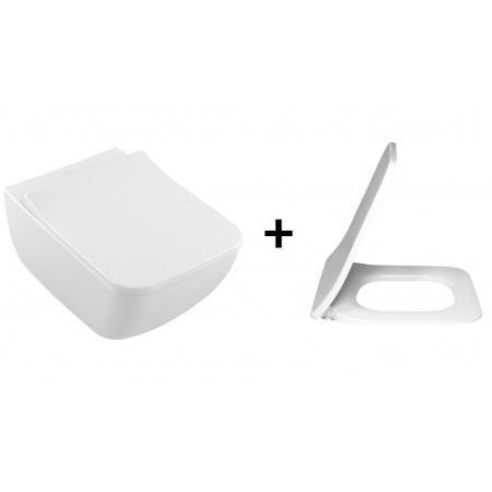 Villeroy & Boch Venticello Zestaw Toaleta WC z deską biały 4611R001+9M79S101