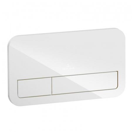 Villeroy & Boch ViConnect Przycisk spłukujący szklany, biały połysk 922400RE