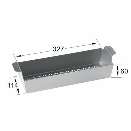Villeroy&Boch Wkładka ociekowa do zlewozmywaka 32,7x11x6 cm, stalowa 8K3400K1