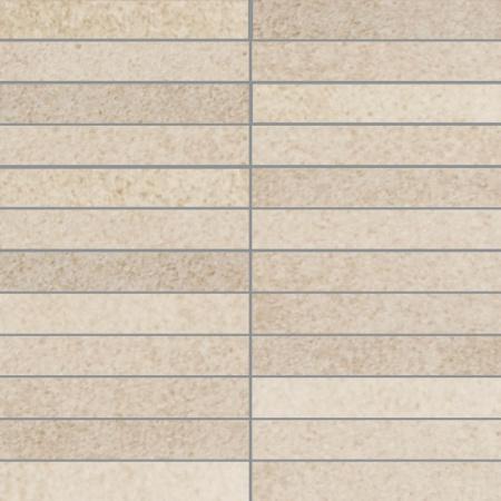 Villeroy & Boch X-Plane Mozaika podłogowa 2,5x15 cm rektyfikowana Vilbostoneplus, kremowa creme 2354ZM10