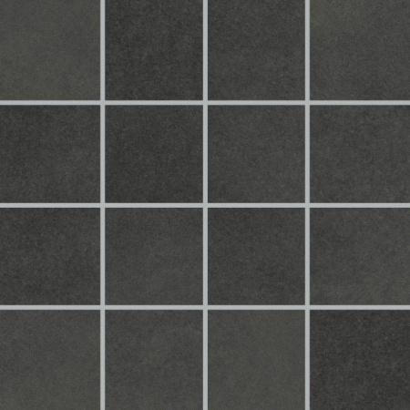 Villeroy & Boch X-Plane Mozaika podłogowa 7,5x7,5 cm rektyfikowana Vilbostoneplus, czarna black 2362ZM91
