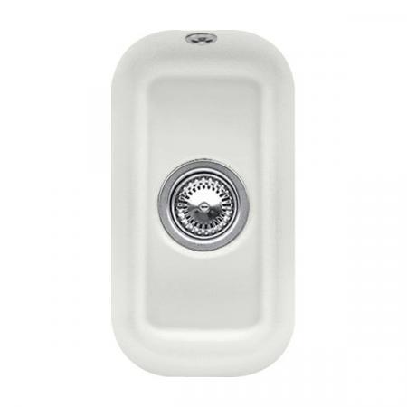Villeroy&Boch Cisterna 26 Zlewozmywak ceramiczny 1-komorowy CeramicPlus 26x44 cm podblatowy, bez ociekacza, jasnoszary Steam 670701SM