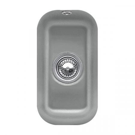 Villeroy&Boch Cisterna 26 Zlewozmywak ceramiczny 1-komorowy CeramicPlus 26x44 cm podblatowy, bez ociekacza, szary Stone 670701SL