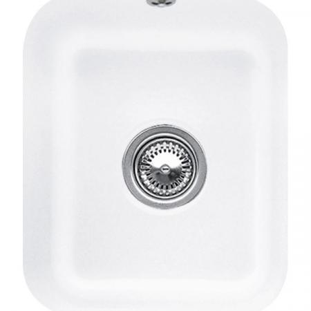 Villeroy&Boch Cisterna 45 Zlewozmywak ceramiczny jednokomorowy CeramicPlus 37x43,5 cm biały Stone White 670401RW