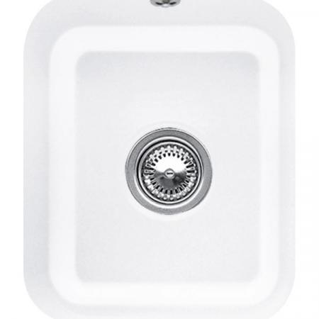 Villeroy&Boch Cisterna 45 Zlewozmywak ceramiczny jednokomorowy CeramicPlus 37x43,5 cm biały Weiss Alpin 670401R1