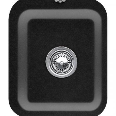 Villeroy&Boch Cisterna 45 Zlewozmywak ceramiczny jednokomorowy CeramicPlus 37x43,5 cm czarny Chromit 670401J0