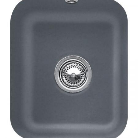 Villeroy&Boch Cisterna 45 Zlewozmywak ceramiczny jednokomorowy CeramicPlus 37x43,5 cm grafitowy Graphite 670401i4
