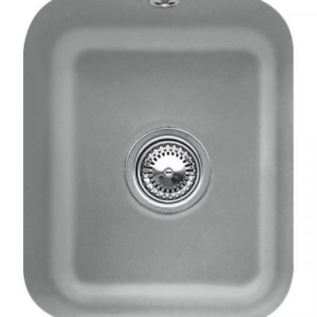 Villeroy&Boch Cisterna 45 Zlewozmywak ceramiczny jednokomorowy CeramicPlus 37x43,5 cm szary Stone 670401SL