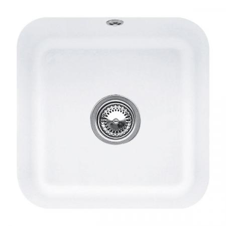 Villeroy&Boch Cisterna 50 Zlewozmywak ceramiczny jednokomorowy CeramicPlus 44,5x44,5 cm biały Stone White 670301RW