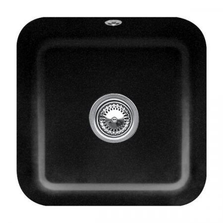 Villeroy&Boch Cisterna 50 Zlewozmywak ceramiczny jednokomorowy CeramicPlus 44,5x44,5 cm czarny Chromit 670301J0