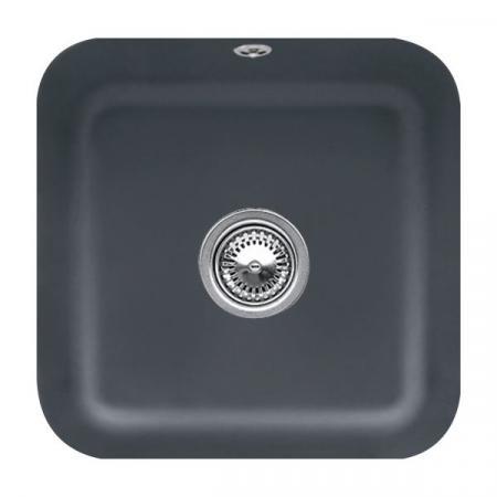 Villeroy&Boch Cisterna 50 Zlewozmywak ceramiczny jednokomorowy CeramicPlus 44,5x44,5 cm grafitowy Graphite 670301i4