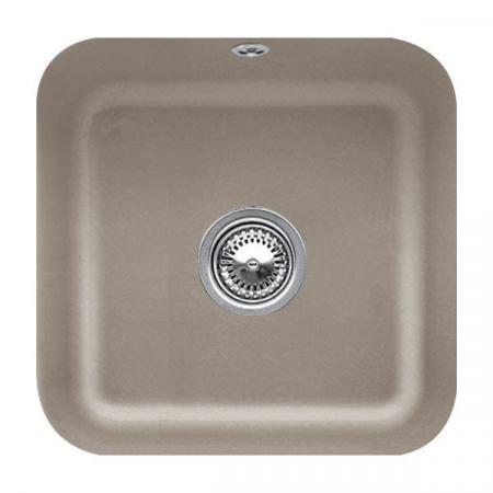 Villeroy&Boch Cisterna 50 Zlewozmywak ceramiczny jednokomorowy CeramicPlus 44,5x44,5 cm jasnobrązowy drewniany Timber 670301TR