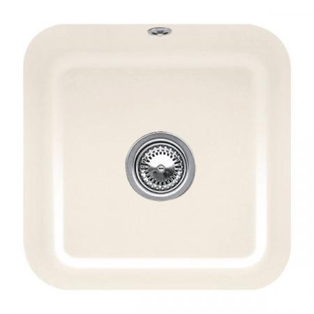 Villeroy&Boch Cisterna 50 Zlewozmywak ceramiczny jednokomorowy CeramicPlus 44,5x44,5 cm kremowy Crema 670301KR