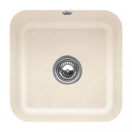Villeroy&Boch Cisterna 50 Zlewozmywak ceramiczny jednokomorowy CeramicPlus 44,5x44,5 cm kremowy Ivory 670301FU