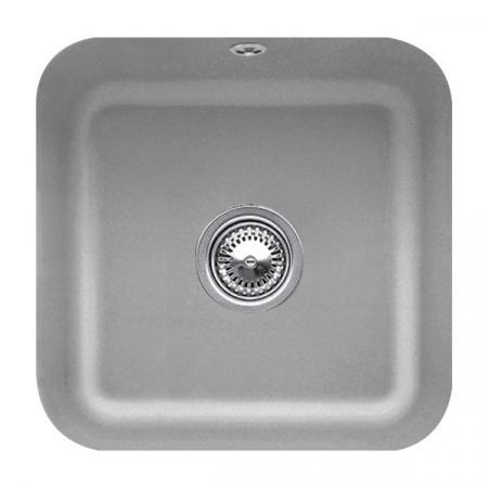 Villeroy&Boch Cisterna 50 Zlewozmywak ceramiczny jednokomorowy CeramicPlus 44,5x44,5 cm szary Stone 670301SL