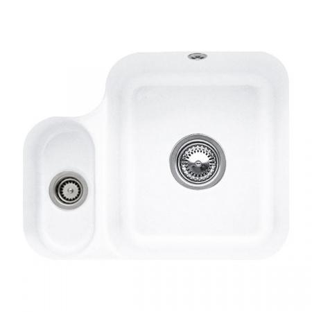 Villeroy&Boch Cisterna 60B Zlewozmywak ceramiczny półtorakomorowy CeramicPlus 54,5x44 cm biały Stone White 670201RW