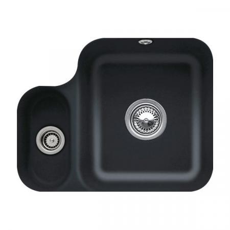 Villeroy&Boch Cisterna 60B Zlewozmywak ceramiczny półtorakomorowy CeramicPlus 54,5x44 cm czarny Ebony 670201S5