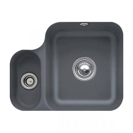 Villeroy&Boch Cisterna 60B Zlewozmywak ceramiczny półtorakomorowy CeramicPlus 54,5x44 cm grafitowy Graphite 670201i4