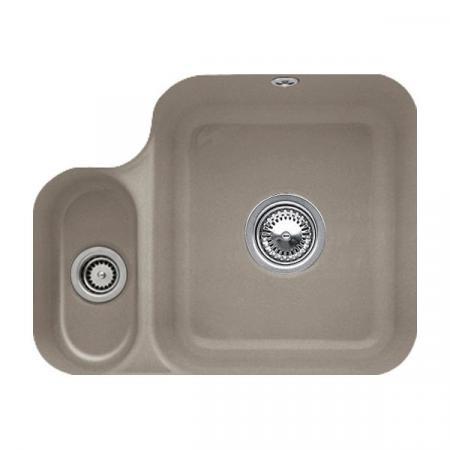 Villeroy&Boch Cisterna 60B Zlewozmywak ceramiczny półtorakomorowy CeramicPlus 54,5x44 cm jasnobrązowy drewniany Timber 670201TR