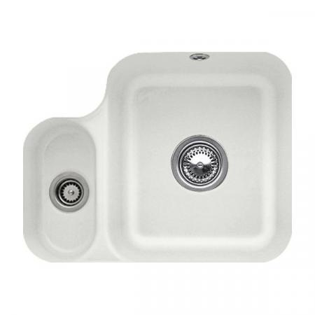 Villeroy&Boch Cisterna 60B Zlewozmywak ceramiczny półtorakomorowy CeramicPlus 54,5x44 cm jasnoszary Steam 670201SM
