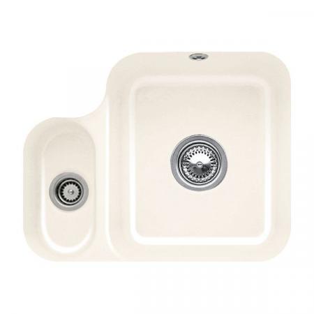 Villeroy&Boch Cisterna 60B Zlewozmywak ceramiczny półtorakomorowy CeramicPlus 54,5x44 cm kremowy Crema 670201KR