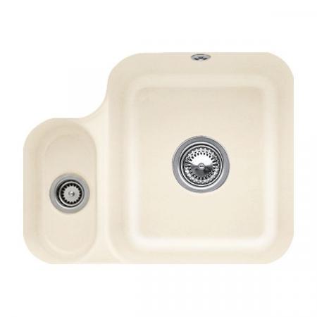 Villeroy&Boch Cisterna 60B Zlewozmywak ceramiczny półtorakomorowy CeramicPlus 54,5x44 cm kremowy Ivory 670201FU