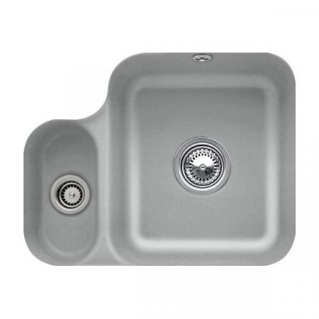 Villeroy&Boch Cisterna 60B Zlewozmywak ceramiczny półtorakomorowy CeramicPlus 54,5x44 cm szary Stone 670201SL
