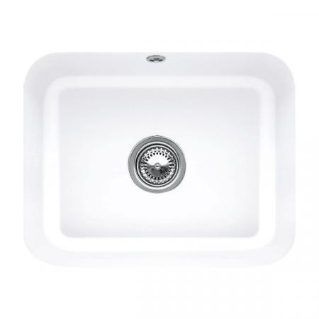 Villeroy&Boch Cisterna 60C Zlewozmywak ceramiczny jednokomorowy CeramicPlus 55x44 cm biały Snow White 670601KG