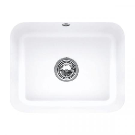 Villeroy&Boch Cisterna 60C Zlewozmywak ceramiczny jednokomorowy CeramicPlus 55x44 cm biały Stone White 670601RW