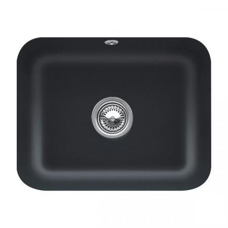 Villeroy&Boch Cisterna 60C Zlewozmywak ceramiczny jednokomorowy CeramicPlus 55x44 cm czarny Ebony 670601S5