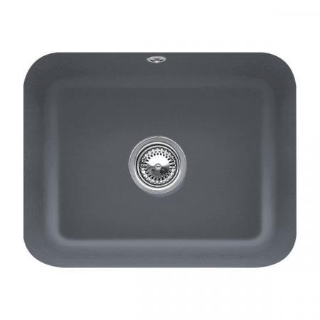 Villeroy&Boch Cisterna 60C Zlewozmywak ceramiczny jednokomorowy CeramicPlus 55x44 cm grafitowy Graphite 670601i4