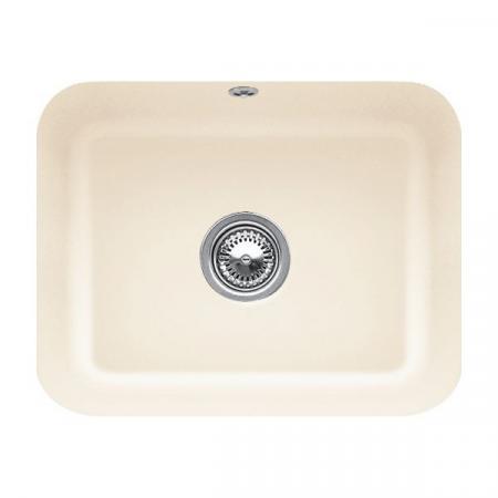 Villeroy&Boch Cisterna 60C Zlewozmywak ceramiczny 1-komorowy CeramicPlus 55x44 cm podblatowy, bez ociekacza, kremowy Ivory 670601FU