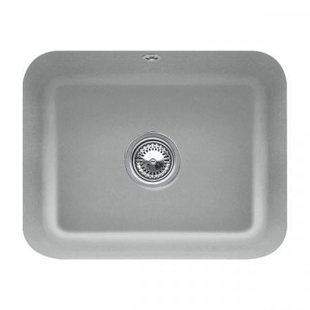 Villeroy&Boch Cisterna 60C Zlewozmywak ceramiczny jednokomorowy CeramicPlus 55x44 cm szary Stone 670601SL