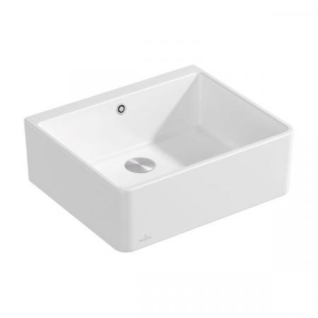 Villeroy&Boch Sink Unit 60 X Zlewozmywak ceramiczny jednokomorowy CeramicPlus 59,5x50 cm biały Stone White 636001RW