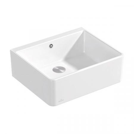 Villeroy & Boch Sink Unit 60 X Zlewozmywak ceramiczny jednokomorowy 59,5x50 cm bez ociekacza CeramicPlus biały Weiss Alpin 636001R1
