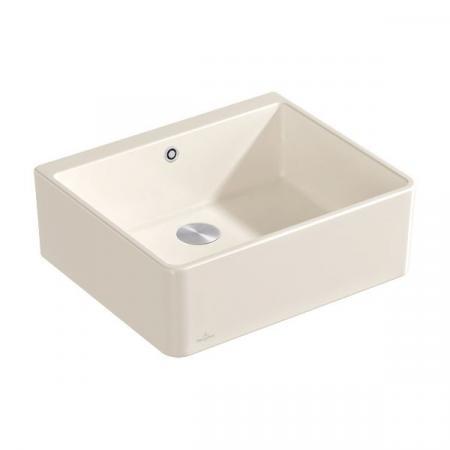 Villeroy&Boch Sink Unit 60 X Zlewozmywak ceramiczny jednokomorowy CeramicPlus 59,5x50 cm kremowy Crema 636001KR