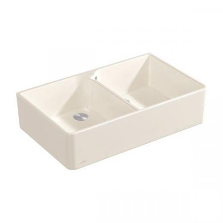 Villeroy&Boch Sink Unit 90 X Zlewozmywak ceramiczny dwukomorowy CeramicPlus 90x55 cm kremowy Crema 639001KR