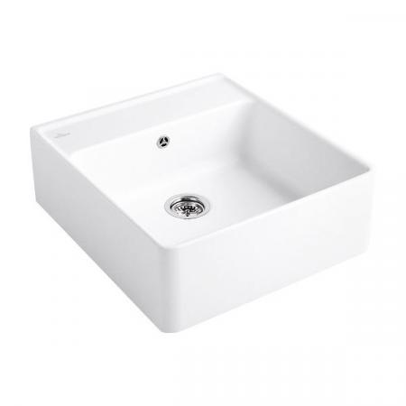 Villeroy&Boch Sink Unit Zlewozmywak ceramiczny jednokomorowy CeramicPlus 59,5x63 cm biały Stone White 632061RW