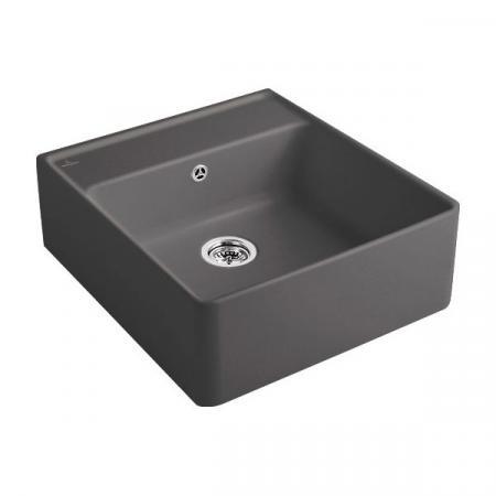 Villeroy&Boch Sink Unit Zlewozmywak ceramiczny jednokomorowy CeramicPlus 59,5x63 cm grafitowy Graphite 632061i4