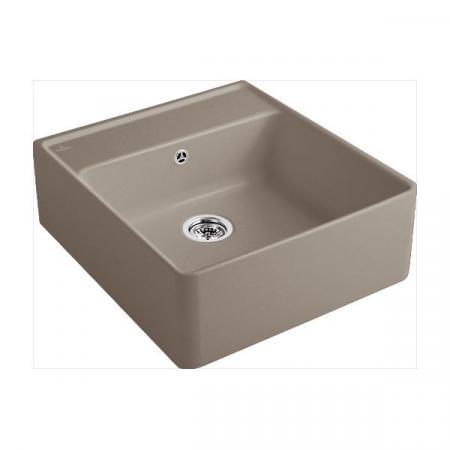 Villeroy&Boch Sink Unit Zlewozmywak ceramiczny jednokomorowy CeramicPlus 59,5x63 cm jasnobrązowy drewniany Timber 632061TR