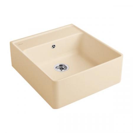 Villeroy&Boch Sink Unit Zlewozmywak ceramiczny jednokomorowy CeramicPlus 59,5x63 cm piaskowy Sand 632061i5