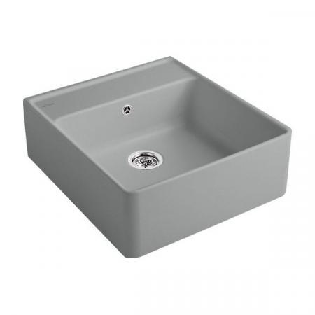 Villeroy&Boch Sink Unit Zlewozmywak ceramiczny jednokomorowy CeramicPlus 59,5x63 cm szary Stone 632061SL