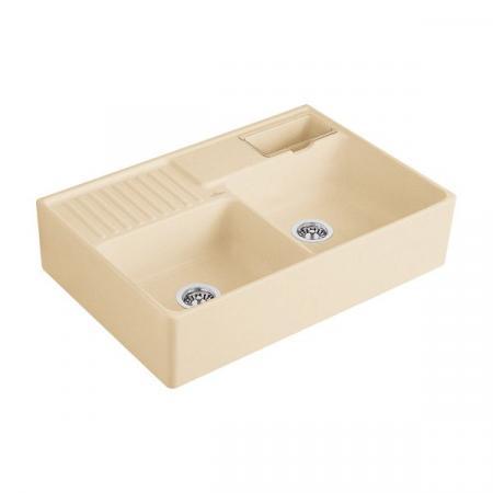 Villeroy&Boch Sink Unit Zlewozmywak ceramiczny dwukomorowy CeramicPlus 89,5x63 cm piaskowy Sand 632391i5