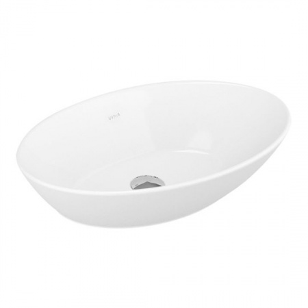 Vitra Geo Oval Umywalka nablatowa 60x38x17 cm, biała 4423B003-0016