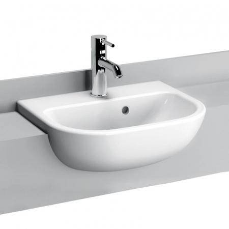 Vitra S20 Umywalka półblatowa 45x35,5x16,5 cm, biała 5521B003-0001