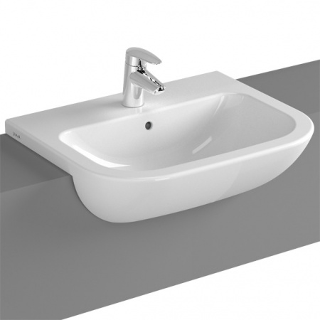 Vitra S20 Umywalka półblatowa 55x44x17 cm, biała 5524B003-0001