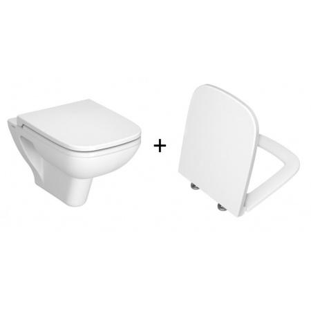 Vitra S20 Zestaw Toaleta WC podwieszana 52x36 cm z deską wolnoopadającą, biała 5507L003-0101+77-003-009
