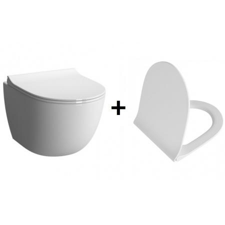 Vitra Sento Zestaw Toaleta WC podwieszana 54x36,5 cm z deską sedesową wolnoopadającą, biały 4448B003-0075+100-003-009