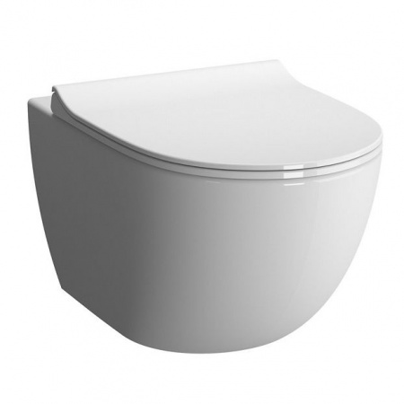 Vitra Sento Rim-Ex Toaleta WC podwieszana 54x36,5 cm bez kołnierza, biała 7748B003-0075
