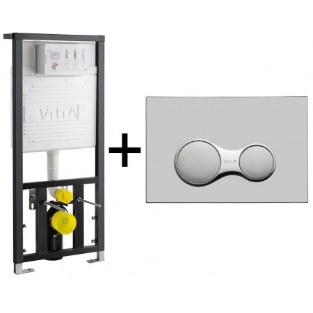 Vitra Stelaż podtynkowy do WC z przyciskiem uruchamiającym, chrom mat 742-5800-01+740-0485
